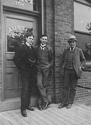 John Austin Sr. (right), John T. (left), and Basil G. (center)